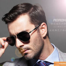Fashion Outdoor Metal Driving Sunglasses Retro Mens AORON Polarized Eyewear