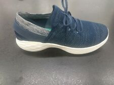 LADIES SKECHERS YOU WALK TRAINERS IN NAVY AND WHITE KNIT *£48.00*