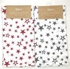 Table Runner Christmas 100% Cotton Dining Home Decorations Cloth 150 x 36cm Gift