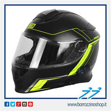 CASCO ORIGINE DELTA MOTION MODULARE NERO OPACO LIME - MATT BLACK LIME BLUETOOTH