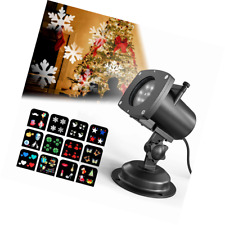 Christmas Projector Lights Outdoor, OxyLED 12 Slides Lamps, Snowflake Projection