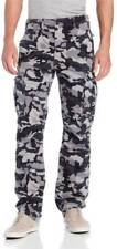 Levis Cargo Twill Pants Men's Ace Relaxed Fit Black Grey Camo 124620019