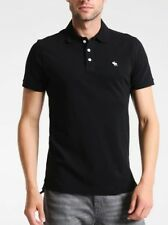 Abercrombie & Fitch AF polo uomo maglietta t shirt  M muscle fit NERA 30% SCONTO