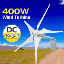 400W Wind Turbine Generator Windmill 5 Blade Energy Home Power Charge Controller