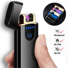 Smart Touch USB Electric Dual Arc Flameless Torch Rechargeable Windproof Lighter