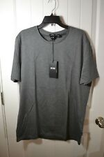 NWT MEN'S HUGO BOSS MEDIUM GREY SHORT SLEEVE CREW NECK TEE T SHIRT SZ 2XL