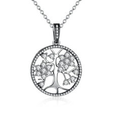 Family Tree Of Life Necklace Heritage Pendant Genuine 925 Sterling Silver NEW