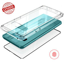 For Samsung Galaxy Note10 9 S10 S9+ Case Tempered Glass Back Protector TPU Cover