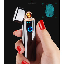 Touch Screen Flameless USB Lighter Rechargeable Windproof Electric Lighter New