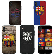 Funda Carcasa FC Barcelona Suave de Silicona para Apple iPhone X 8 7 6 6s Plus