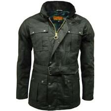 Game Continental Belted Motorcyle Wax Jacket Black