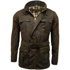 Game Continental Belted Motorcyle Wax Jacket Brown