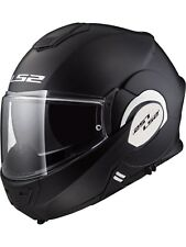 Casco convertible moto LS2 2019 FF399 Valiant Solid-Matt Negro