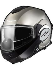 Casco convertible moto LS2 2019 FF399 Valiant Solid Chrome