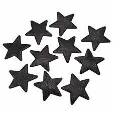 SEQUIN STAR IRON ON BADGE SEW ON PATCH BLACK EMBROIDERED APPLIQUE