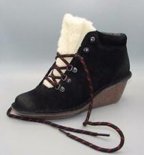 Clarks Black Suede Ladies Ankle wedged Boots size 6/39.5 D  RRP £70