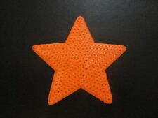 SEQUIN STAR IRON ON BADGE SEW ON PATCH ORANGE EMBROIDERED APPLIQUE