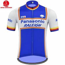 Panasonic Raleigh Rétro Bicicletta Maglia Tricot Maillot