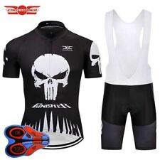 SKULL PUNISHER BLACK RETRO Cycling BIKE Jersey Shirt Tricot Maillot Kit 1b49f091d