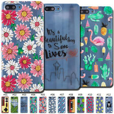 For Huawei Clear Skin Pattern Silicone Protective Case Cover TPU Soft Cute Back