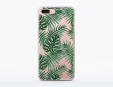 Palm Leaves iPhone X Case Tropical iPhone 7 8 Plus Cover iPhone 6 6s Clear Skin