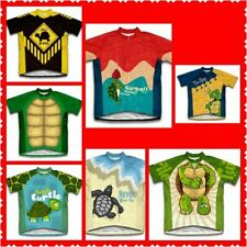 b7a0b1527 TURTLE ON ROAD CROSSING RETRO Cycling BIKE Jersey Shirt Tricot Maillot