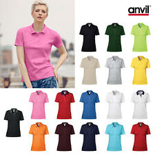 Anvil Women's Double Pique Polo 6280L - Ladies Short Sleeved Polo Shirt Top