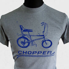 Chopper Bike  New T Shirt Raleigh Grifter Cool Retro 70's 80's Vintage Cycle gre