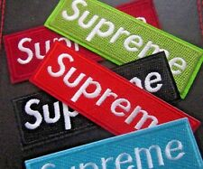 SUPREME EMBROIDERED BADGE IRON ON SEW ON PATCH APPLIQUE RED GREEN BLUE BLACK BUR