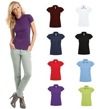 B&C Collection Women's Heavymill Polo Shirt PW460 -Short Sleeve Smart Cotton Top