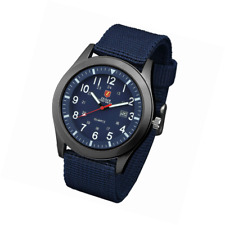 Mens Military Watches Analogue Quartz Date Watch for Man Sport Wristwatch with H