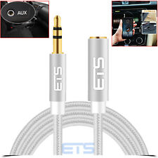 ETS 3.5MF Male To Female Extension Jack Stereo Audio Headphone MP3 Cable Silver