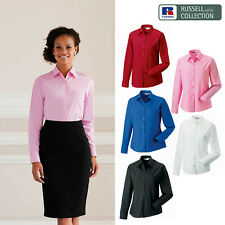Russell Collection Women's Long Sleeve Pure Cotton Poplin Shirt R-936F-0