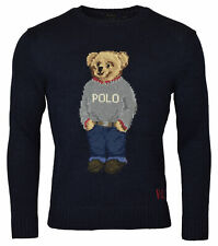 Polo Ralph Lauren Mens Bear Cotton/Linen Blend Crewneck Sweater