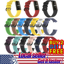 US For Fitbit Charge 3 Replacement Silicone Bracelet Wrist Watch Band Strap ol