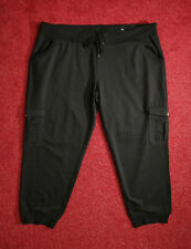 WARM BLACK STRETCH JOGGER PANTS TROUSERS WITH POCKETS SIZE 22 AND 24