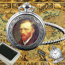 VINCENT VAN GOGH DUTCH PAINTER  POCKET WATCH ENGRAVING BIRTHDAY GIFT