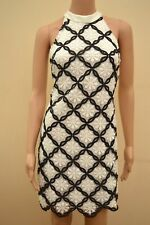 New Lipsy Ariana Grande Mono Lace Shift Dress Sz UK  12