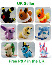 Pokemon Evolution of Eevee 9x5in & Pikachu 9in Plush Collectable Cute Fun Gift