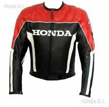 HONDA MOTORBIKE LEATHER JACKET / MOTORCYCLE LEATHER JACKET RED and BLACK