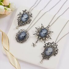 Fashion Vintage Crystal Rhinestone Pendant Necklace Silver Chain Women Jewelry