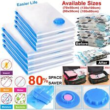 5 & 10x Pack Strong Vacuum Storage Bags Space Saving Compressed Bag Vaccum Saver