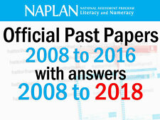 NAPLAN Past Papers 2008 to 2016 + answers + 2017 & 2018 answers (Grades 3,5,7,9)