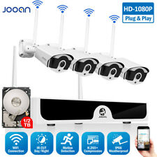 JOOAN 8CH Wireless 1080P IP Security Camera System WiFi NVR Outdoor Kit 1TB HDD