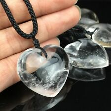 Natural Clear Quartz Heart Pendant Crystal White Crystal mineral Healing
