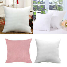 Sofa Throw Pillow Cover Velvet Solid Color Pillow Case +Filling Cushion