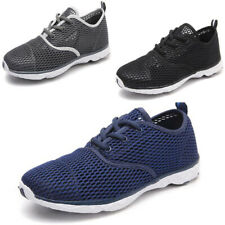 New Mens Mesh Breathable Water Shoes Lace Up Casual Walking Outdoor Lightweight