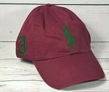NWT POLO RALPH LAUREN CLASSIC RED BASEBALL CAP HAT ONE SIZE