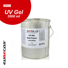Eubecos UV Gel euro 8007 French rosa lechosa 3 l Studio calidad made in Germany