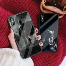 Batman spider man Superman tempered glass phone case for iPhone 7 8 6s 6 Plus Xr